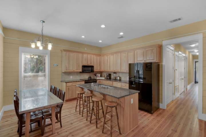 As soon as you enter the home, you are welcomed by the spacious open floor plan!