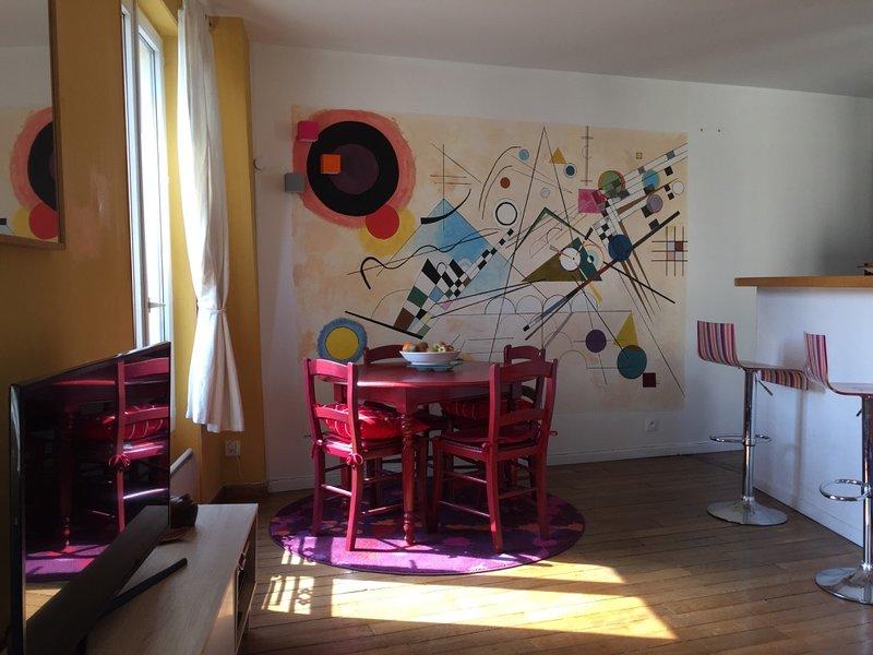 40m2 Quartier Montmartre, vacation rental in La Plaine-Saint-Denis