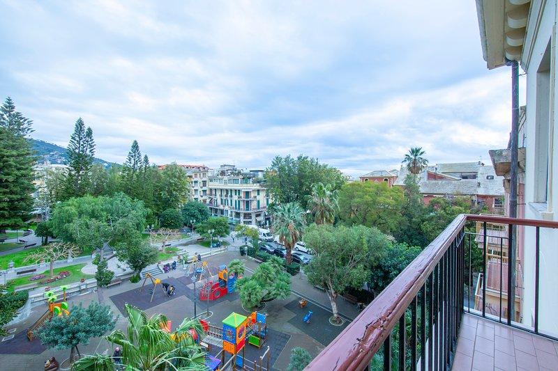 Balcon extérieur et vue