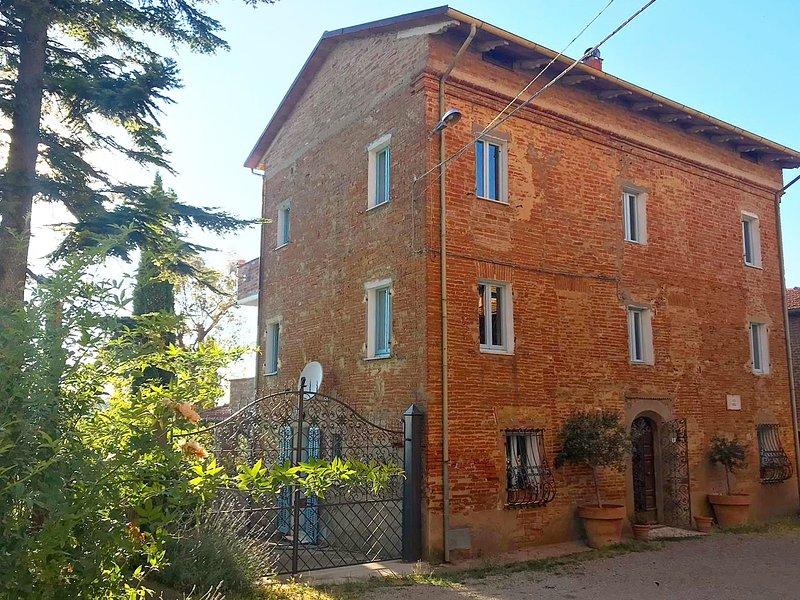 Voorkant van het huis op Piazza Piccola