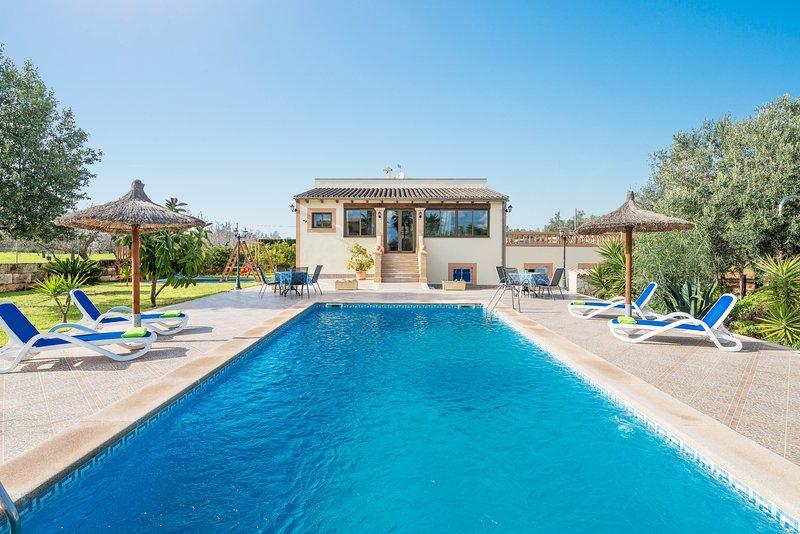 FINCA CALDERITX - Villa for 6 people in Ariany, alquiler de vacaciones en Ariany