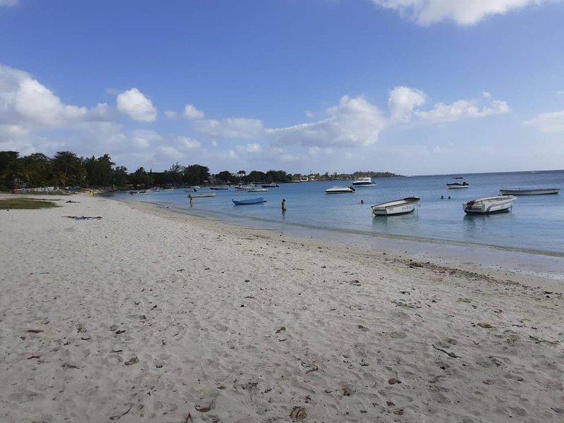 Het prachtige strand van Trou aux biches
