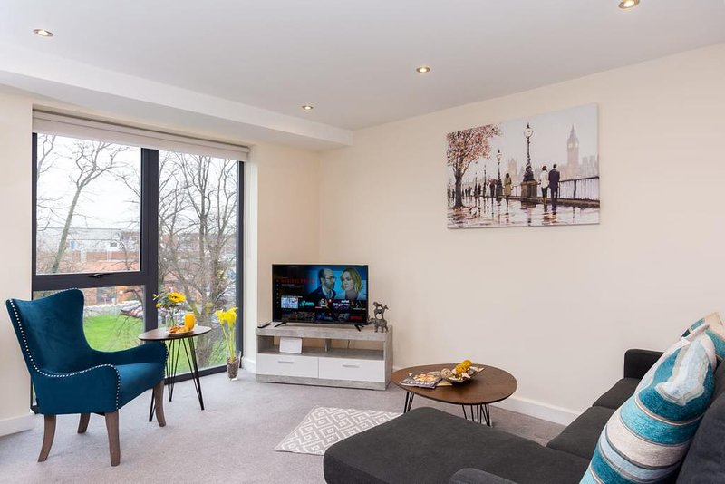 DreamInn Modern Apartment With Free Gated Parking, holiday rental in Towthorpe
