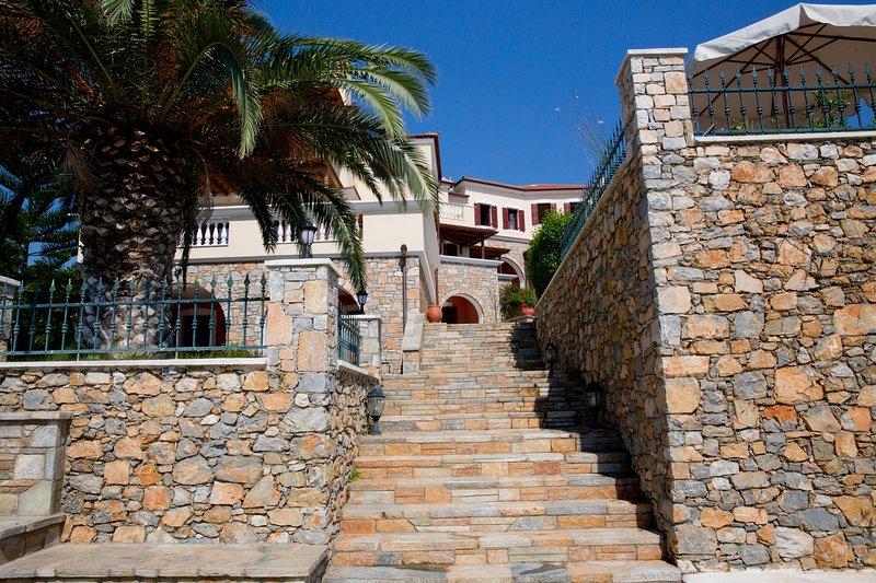 Entrée principale de la villa