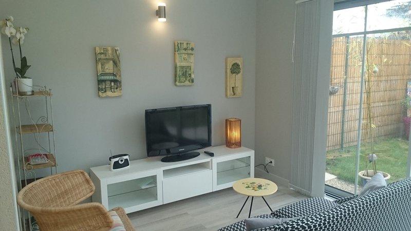 charmante et agréable maison avec garage et jardin, holiday rental in Vergeroux