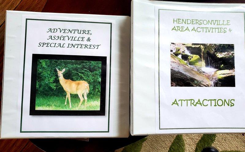 Esistono raccoglitori con schede rack e brochure per aiutarti a pianificare le tue attività e avventure!