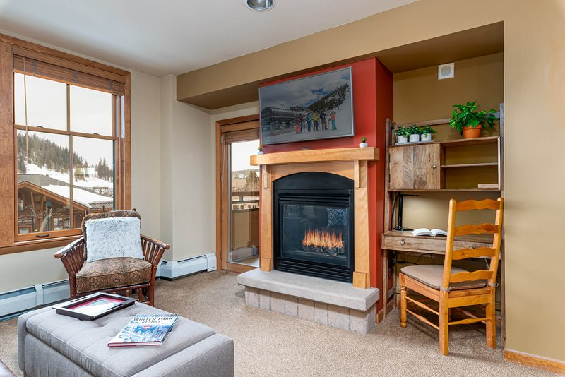 Wonderful slope views right from your living room at Zephyr Mountain Lodge 2215
