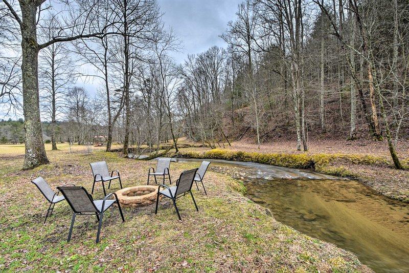 Set on 10 scenic acres, this property provides endless areas to play & explore.