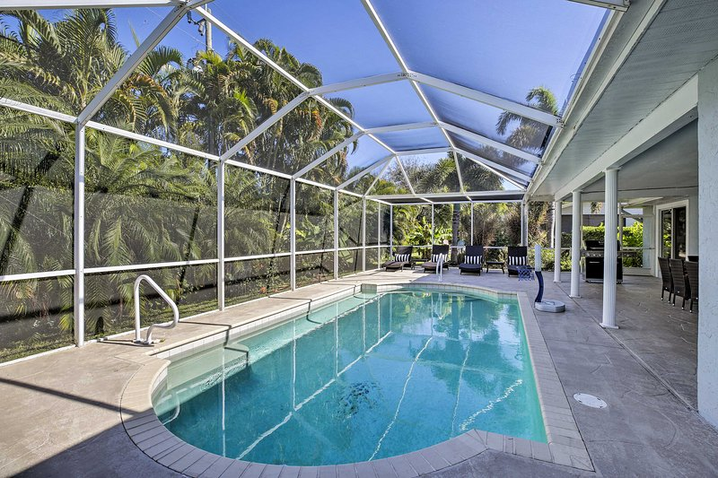 Questa casa vacanza con 3 camere da letto e 2 bagni si trova a Cape Coral!