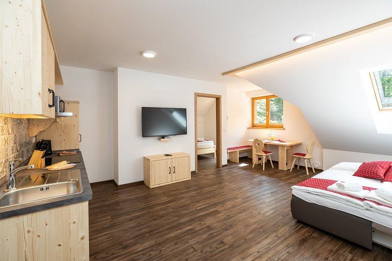 Apartments Goldhorn Kingdom - One Bedroom Apartment (E), casa vacanza a Slap ob Idrijci