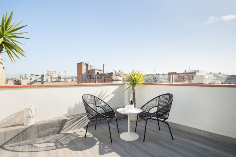 Sunny Terrace Attic in Plaza España - NEW elevator, holiday rental in Barcelona