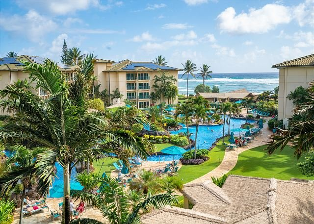 Penthouse Ocean view 1bdr/2bath Suite, holiday rental in Kapaa