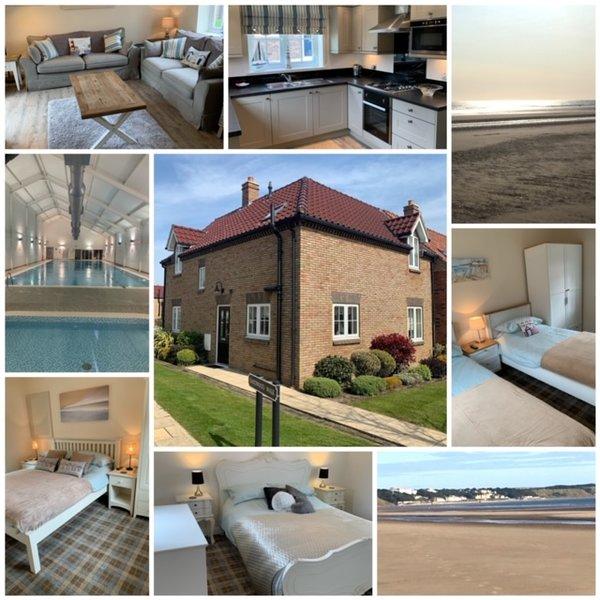 ROCKPOOL HOUSE, 3 BED 2 BATH, SLEEPS 6, POOL, PUB, BEACH, FREE WIFI – semesterbostad i Hunmanby