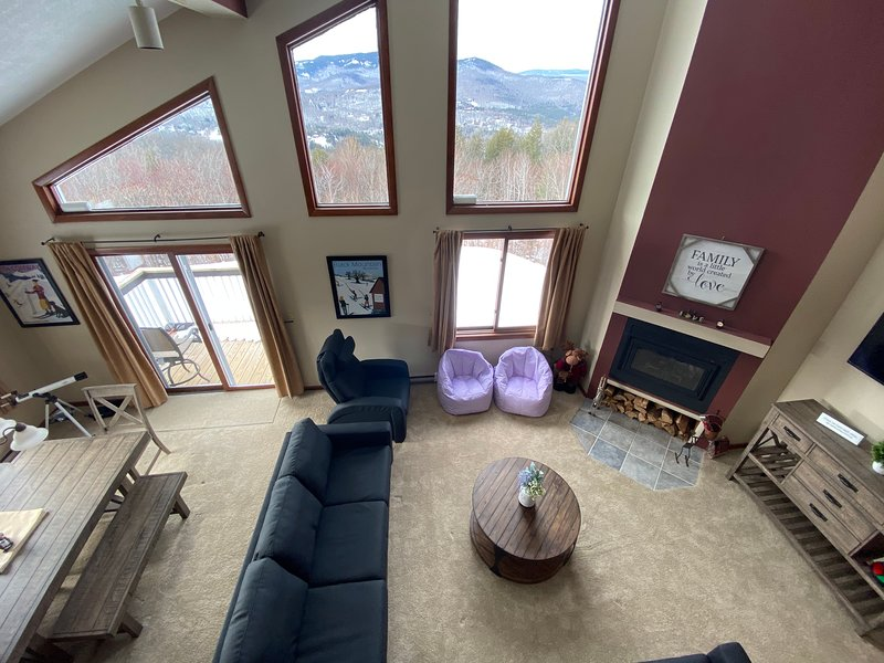 View of Main Living Space From Loft