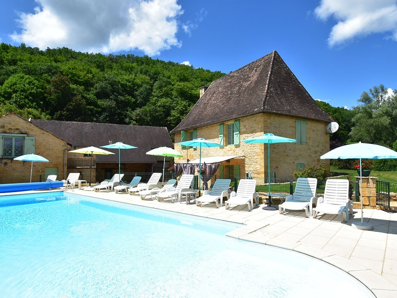 Modern Holiday Home in Aquitaine with Swimming Pool, holiday rental in Prats-de-Carlux