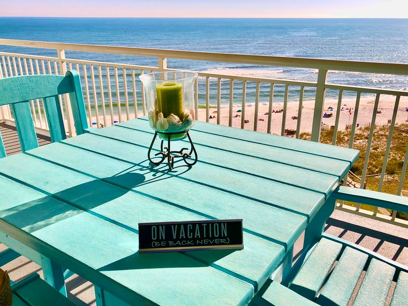 Enjoy this view from our 8th floor balcony. Book to put to let the waves wash your troubled away.