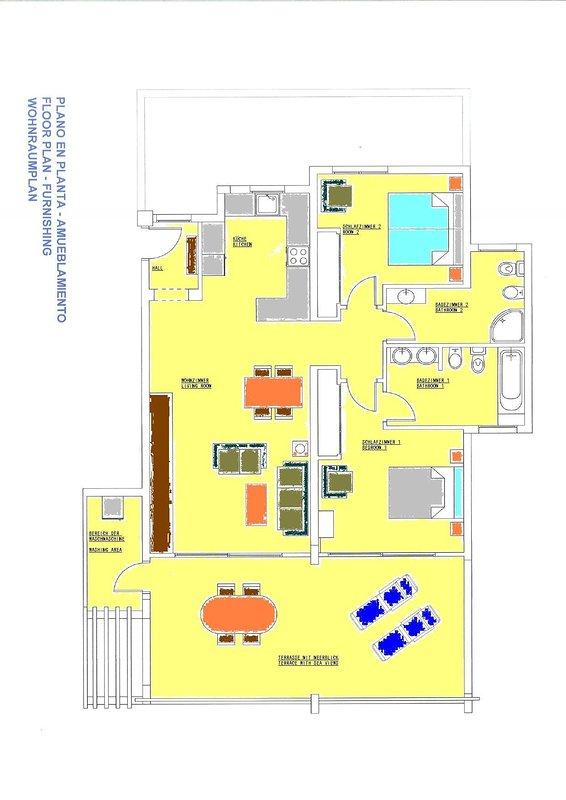 Plano de planta del apartamento