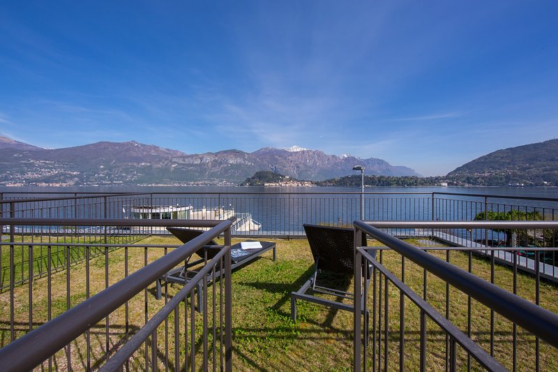 Property private rooftop terrace and garden overlooking the lake