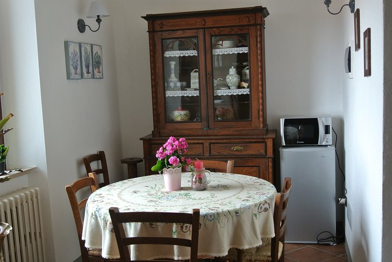 Spacious apartment with garden, holiday rental in Montenero d'Orcia