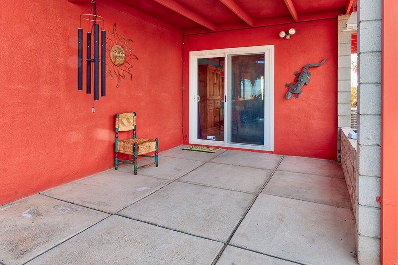 Front patio entrance.