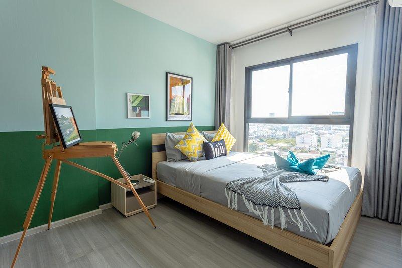 【hiii】Cinnabar Green*KhaoSan&GrandPalace*MRT-BKK213, holiday rental in Bang Kruai