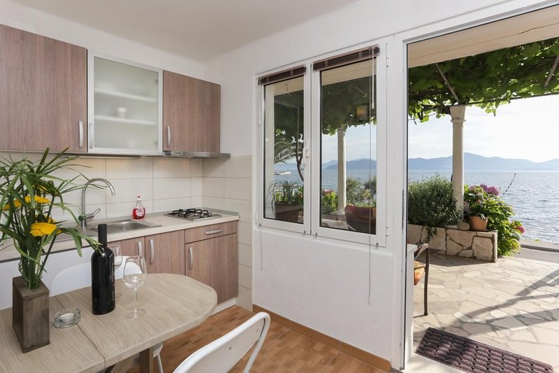 Apartments Stipo - One Bedroom Apartment with Terrace and Sea View, holiday rental in Drace