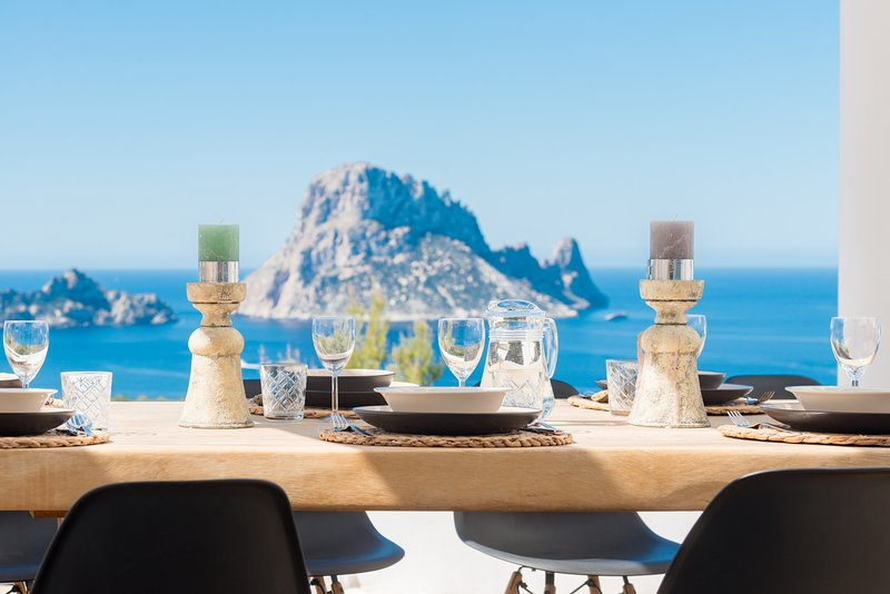 ET-0747-E Villa Vedra, wide view over Es Vedra and Cala Vadella, holiday rental in Cala Carbo