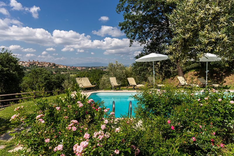 Apartment Tuscany -FIENILE- Villa Poggio delle Robinie- Ceppeto- Monte S.Savino, aluguéis de temporada em Monte San Savino