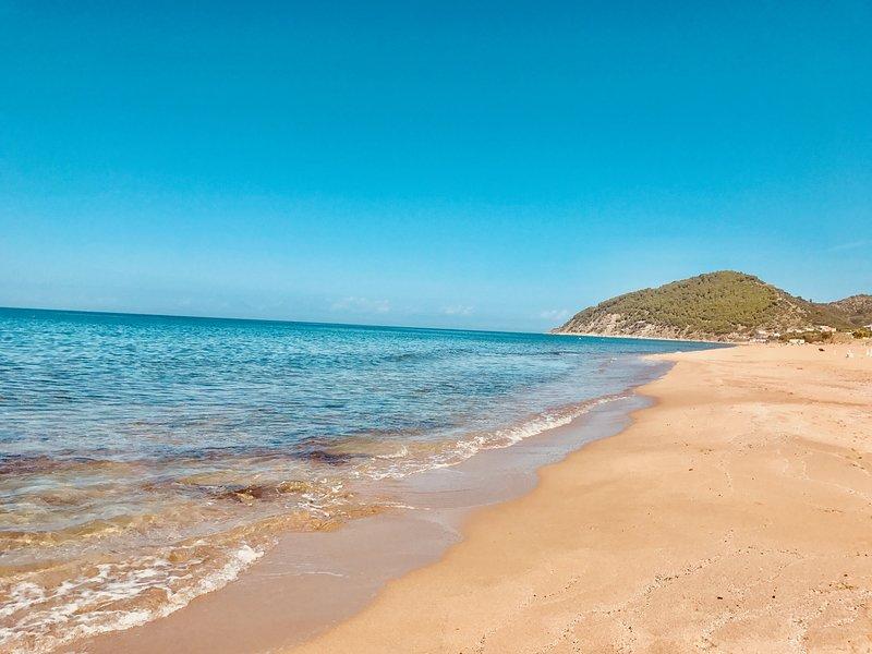 nearby sandy beaches award Blue Flag