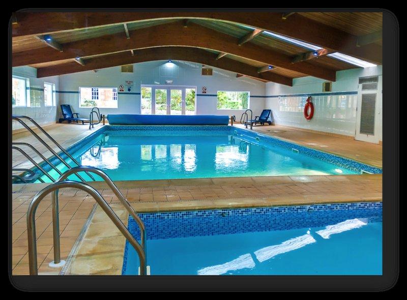 Heated indoor swimming pool