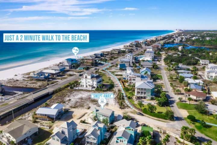 You are sure to be Swept Away by how close the beach is to this home!