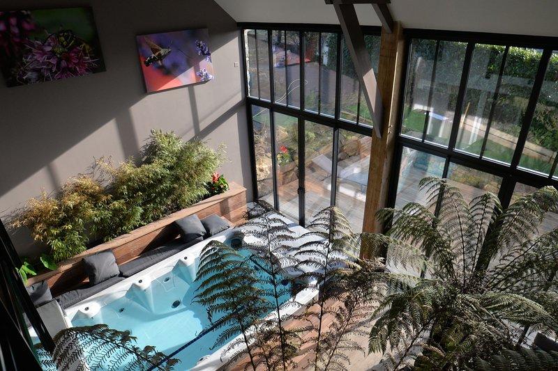 La grange de Tissey dans la baie du Mont Saint Michel avec spa de nage et sauna, holiday rental in Manche