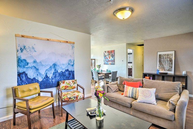 NEW! Vibrant ABQ Adobe Den w/Patio - Walk to Park!, vacation rental in Los Ranchos de Albuquerque