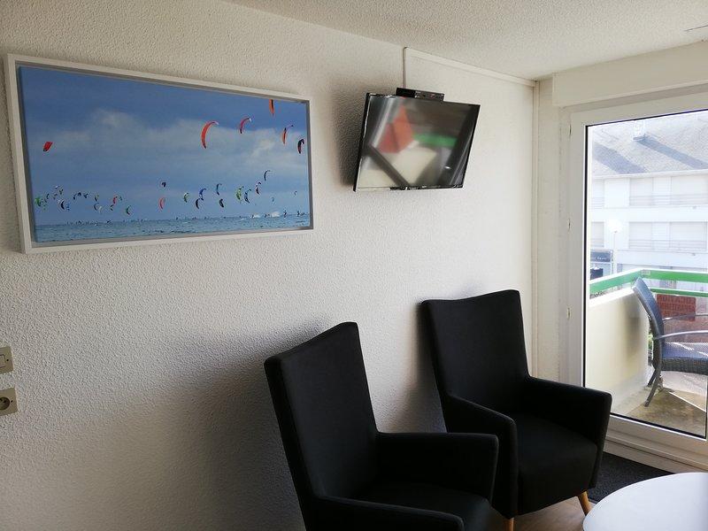 Decoración de la sala de estar: kitesurf