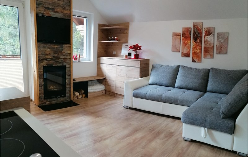 Beautiful apartment in Gozd Martuljek with Sauna, WiFi and 1 Bedrooms (SGR087), holiday rental in Srednji Vrh