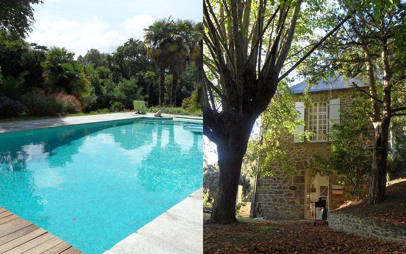 Maison ancienne centre ville dans parc, piscine, vakantiewoning in Ille-et-Vilaine