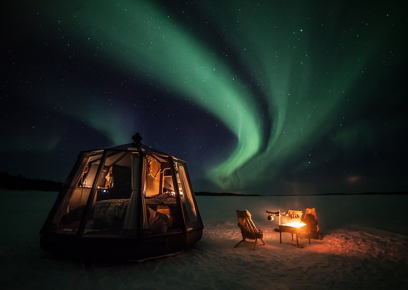 Aurora Borealis Northern Lights Glass Igloo, vacation rental in Norrbotten County