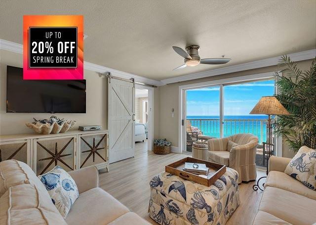 Beach Front Condo - Crystal Dunes 306 - Living Area