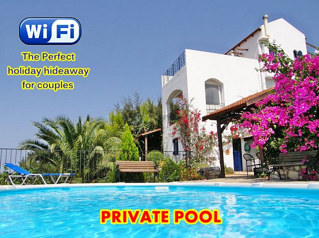 ★ ESCAPE TO A SEA VIEW APARTMENT with PRIVATE POOL & RELAXING LOCATION, vacation rental in Apokoronas