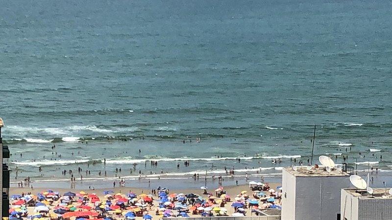 Cobertura com Vista Praia Grande - 2 suites - 100m praia, location de vacances à Praia Grande