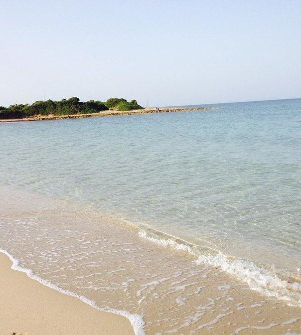 Private Mediterranean scrub beach
