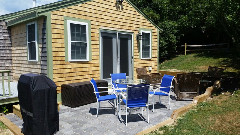 Back patio with seating