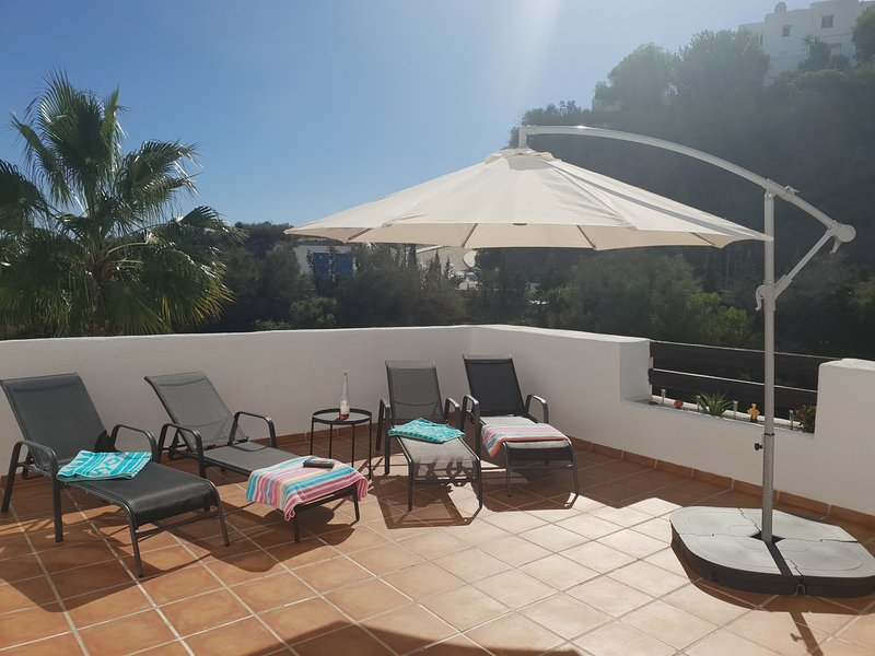 Yes - this space is all yours! No fighting over sun loungers with your very own sun terrace.