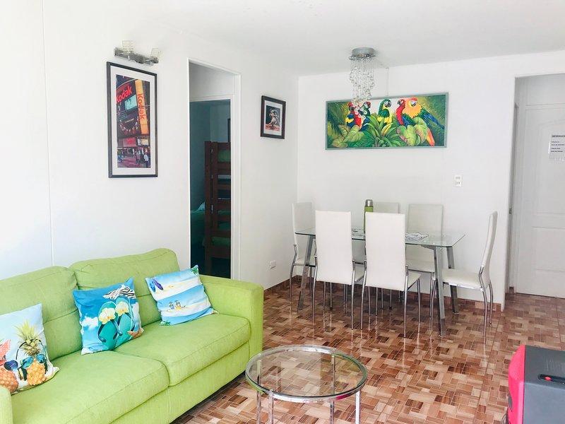 Cosmopolita Verde Wi-Fi 6 personas a pasos del Mar La Serena, vacation rental in La Serena