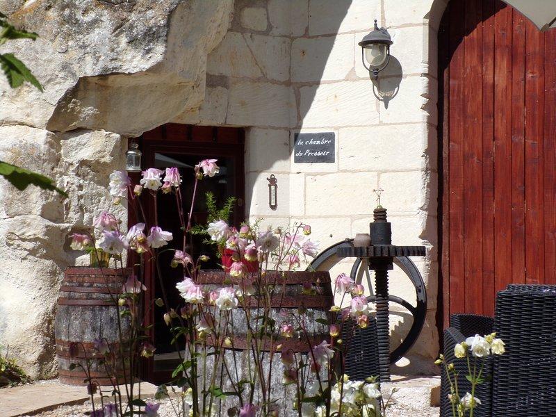LES TROGLOS DE BEAULIEU - LA CHAMBRE DU PRESSOIR, location de vacances à Chedigny