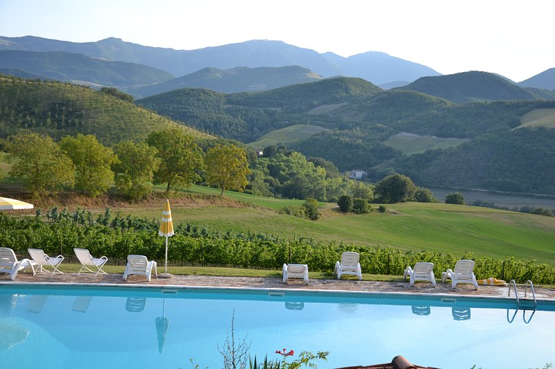 Beautiful apt with shared pool, holiday rental in Acqualagna
