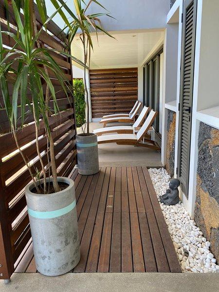 Design apartment, private pool at Tamarin, vacation rental in Tamarin