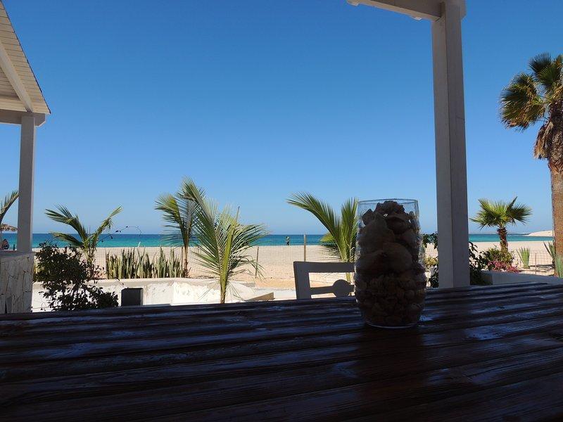 Villa Marchetti, Suite on the beach, Praia de Chaves, Boa Vista, Cape Verde, holiday rental in Santa Monica