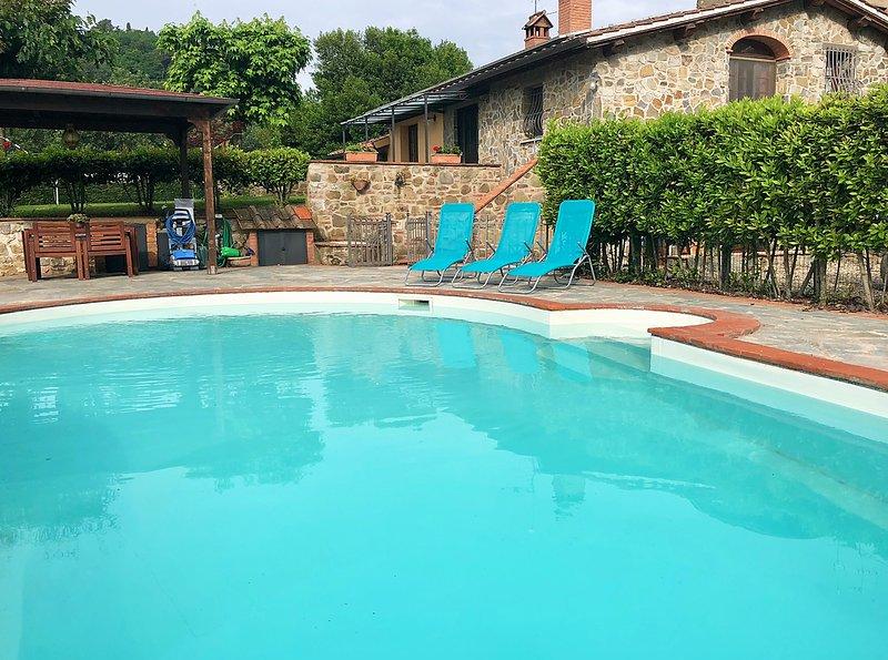 Villa Podere La Casa in Chianti, Tuscany, holiday rental in Castelnuovo dei Sabbioni