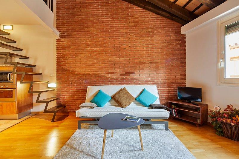 Apartamento dúplex en el Barri Vell, aluguéis de temporada em Girona